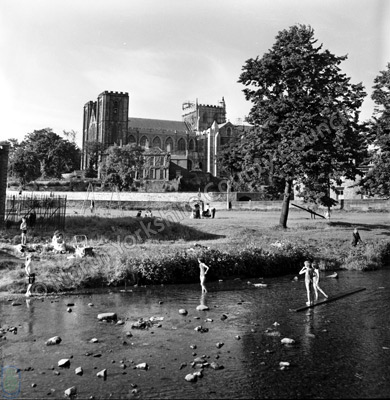 Ripon Cathedral and River Skell